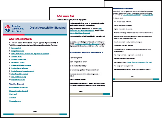 FACS Digital Accessibility Standard