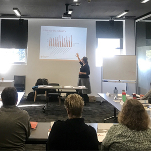 Lyndall Thomas delivering training in Tasmania