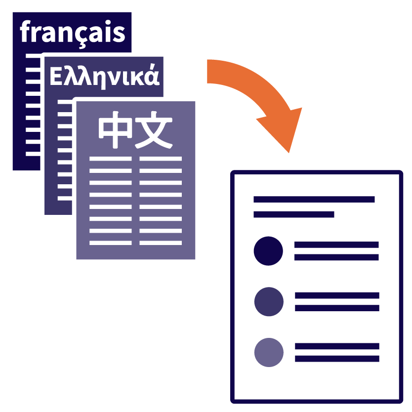 Documents in languages other than English being converted into Easy Read